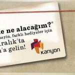 YILBAŞI HEDİYE PAZARI KANYON'DA! YILBAŞI HEDİYE PAZARI KANYON'DA!