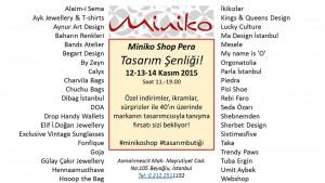 Program Miniko Shop Perada Tasarım Şenliği