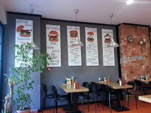 iç mekan burger@ göztepe
