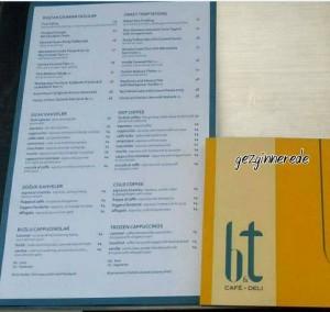 b&t Café-Deli menü rotana