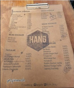 Hang cafe menü-1 hang cafe