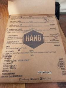 Hang cafe menü-3 hang cafe
