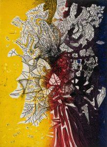 Mario_Prassinos__Sar___K__rm__z___Siyah_A__a____Yellow_Red_Black_Tree Pera Müzesi Mario Prassinosu ağırlıyor
