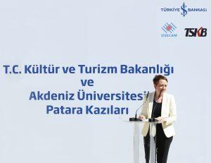 turkiye-is-bankasi-grubundan-patara-antik-kenti-kazilarina-destek-senar-akkus patara antik kenti